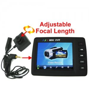 2.5 Inch LCD Screen Mini Spy DVR with Pinhole CCD Camera